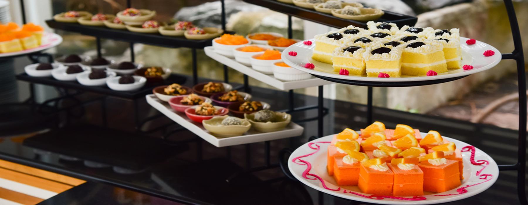 Desserts in the Desi sweet Centre Bradford