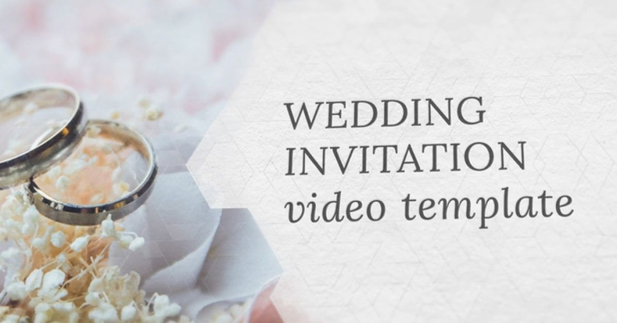 video invitation wedding