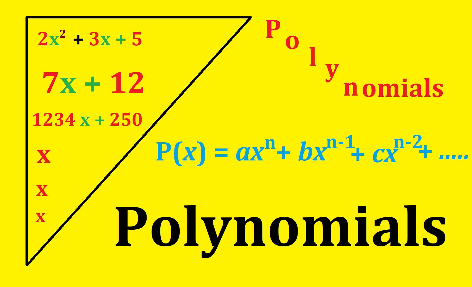 Polynomials – An integral part of mathematics to comprehend